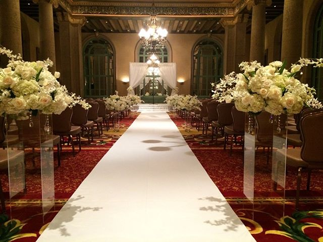 Make your grand entrance on_a beautiful fabric non-slip_aisle runner 💖