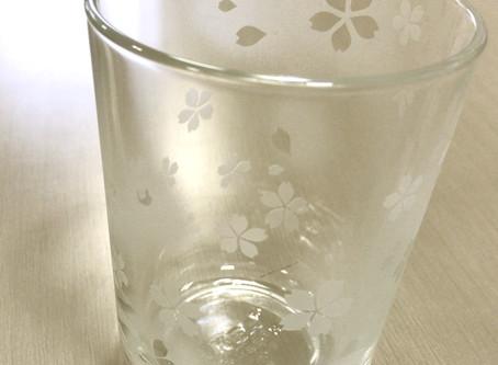 サンドブラストで桜模様のグラスを作ろう