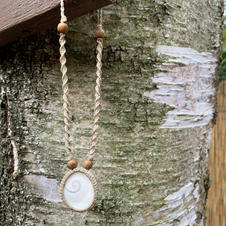 Necklace with Shiva Shell Dharmacrame