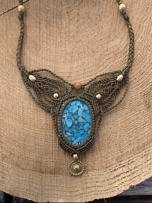 Palekana Turquoise Copper Empowering Macrame Jewel
