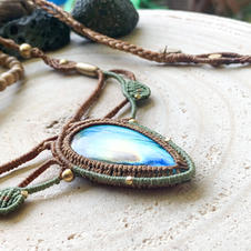 Soul Jewel with Labradorite Dharmacrame