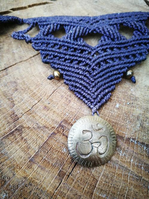 Ohm Macrame Necklace