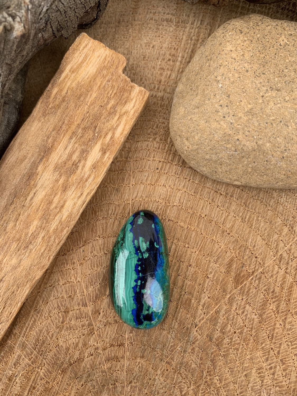 Azurite/Malachite AAA 15x30mm