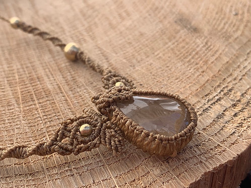 Kami No Rutilated Quartz Empowering Macrame Jewel