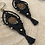 Thumbnail: Ammonite Earrings Black Micromacrame