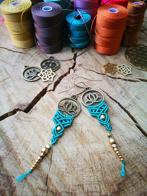 Lotus 1 Flow Earrings Macrame