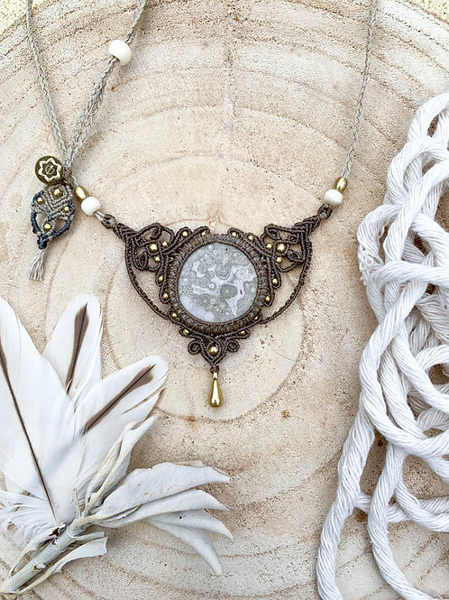 Samudra Ovean Jasper Micromacrame Design Necklace