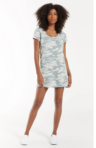 Payton Camo Tee Dress Green Camo