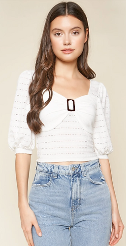 Lovely Buckle Top