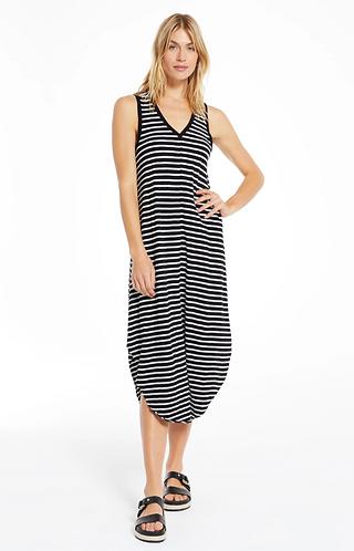 Reverie Dress Inverted Stripe