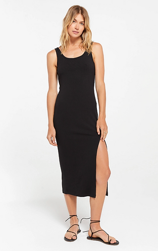 Melina Rib Dress Black