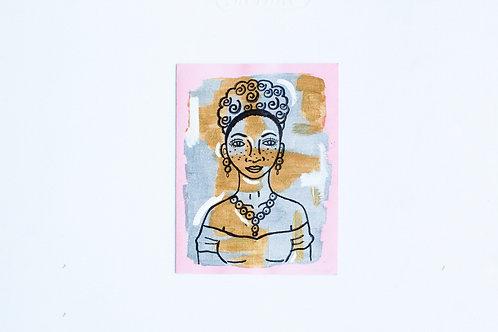 """Miss Lovely"" Handmade Greeting Card"