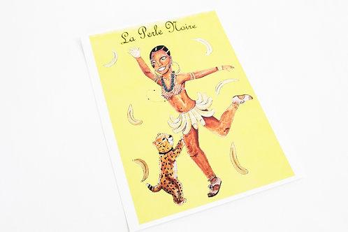 """La Perle Noire"" Josephine Baker Illustration Poster Print"