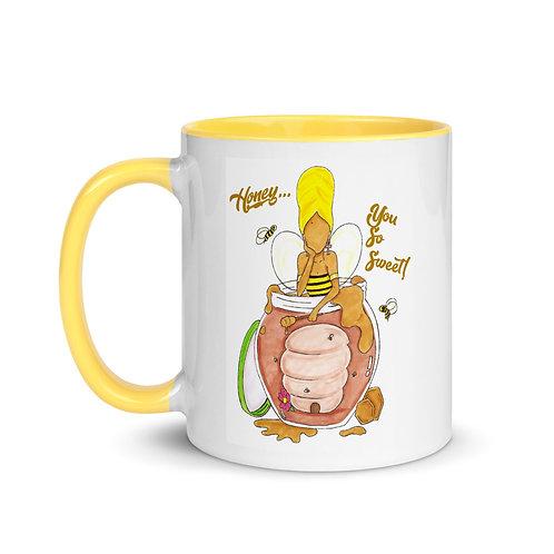"""""""Honey...You So Sweet!"""" Erykah Badu Illustration 11oz Mug with Color Inside"""