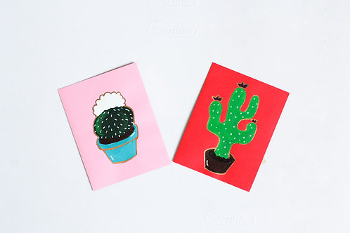 """""""So Savory Succulents"""" Set of 2 Handmade Greeting Cards"""