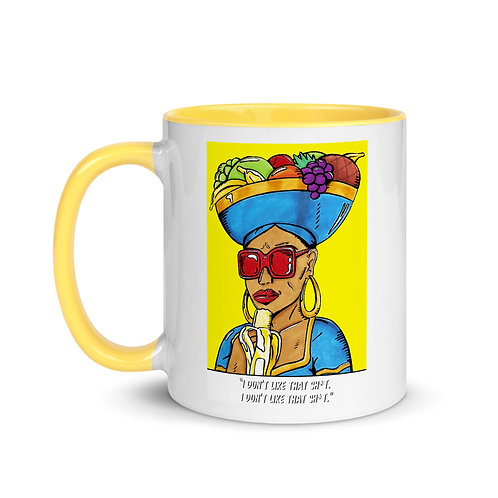 """""""Chiquita Don't Like That"""" Belly 11oz Mug with Color Inside"""