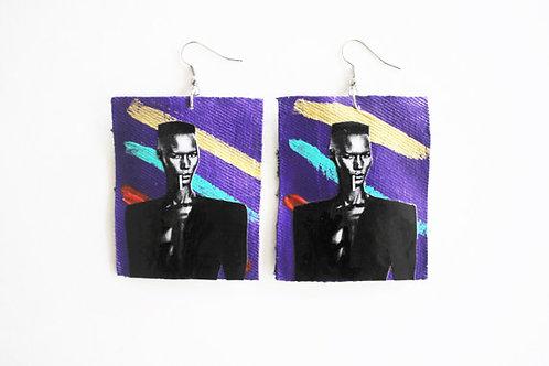 """""""Ms. Jones"""" Grace Jones Handmade Earrings"""