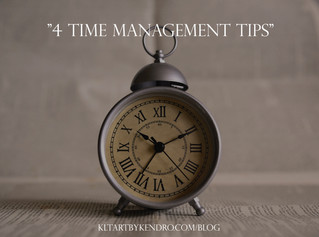 4 Time Management Tips