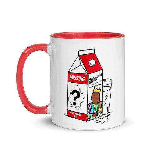 """Where Brooklyn At?!"" Notorious B.I.G. Milk Carton 11oz Mug with Color Inside"
