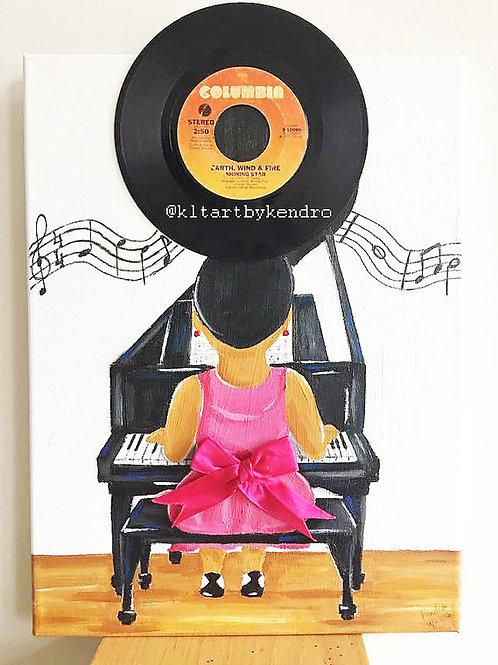 """Play Me A Song"" Original Mixed Media Painting"