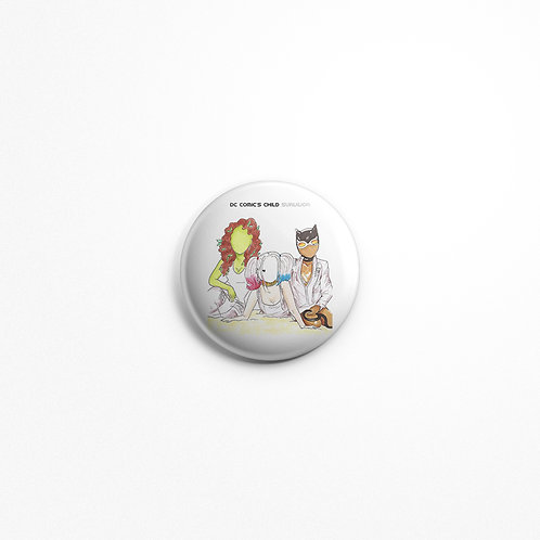 DC Comics Villains as Destiny's Child Art Pinback Button