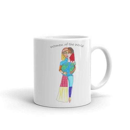"""""""Women of the World"""" Illustration 11oz or 15oz Mug"""