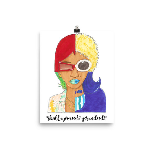 Shall I Proceed? Yes Indeed! Lil' Kim Crush On You Art Poster Print