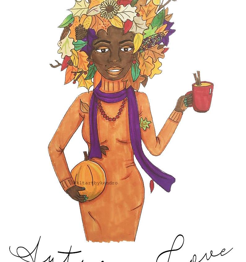 """""""Pumpkin Spice"""" drawing"""
