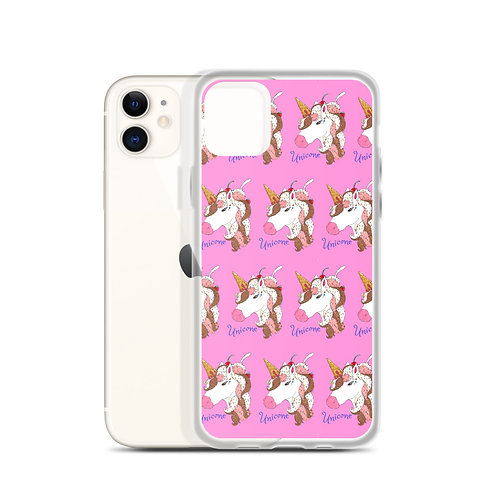 Unicone - Unicorn Ice Cream Cone Illustration iPhone Case
