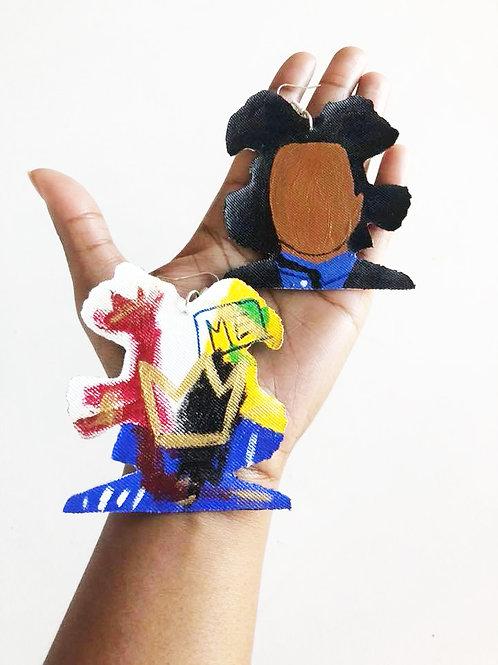 Basquiat Crown Me Hand Made Earrings