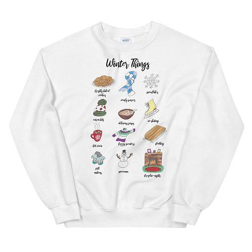 Winter Things Illustration Sweatshirt