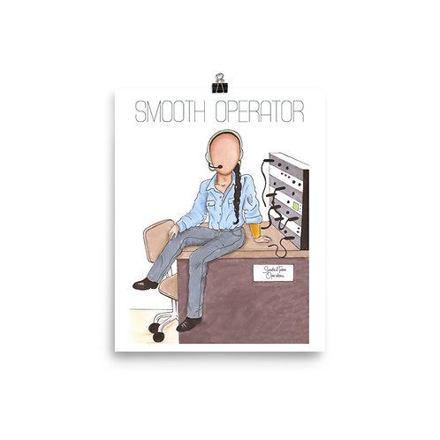"""Smooth Operator"" Sade Adu as a Phone Operator Illustration Art Poster Print"