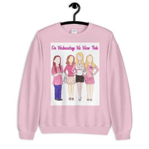 """Mean Girls  """"On Wednesdays We Wear Pink"""" Sweatshirt"""