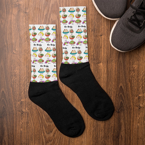 """Taco Tuesday"" Illustration Socks"
