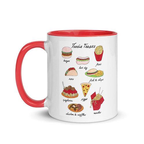 Foodie Galore Fast Food Art Illustration 11oz Mug with Color Inside