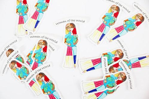 Women of the World Die Cut Sticker