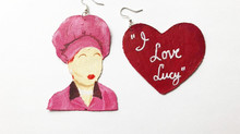 "💗These ""I Love Lucy"" Earrings Are Vintage-Inspired Fabulous! 💗"