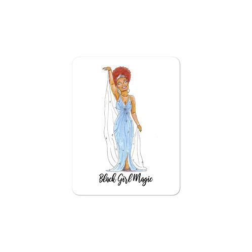 Black Girl Magic Illustration Bubble-free stickers