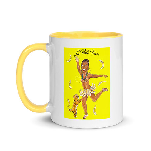 """La Perle Noire"" Josephine Baker Illustration 11oz Mug with Color Inside"