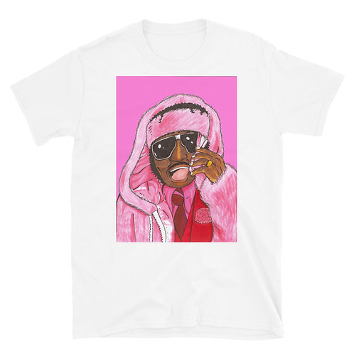"Pinky from ""Next Friday"" as Cam'ron In Pink Coat Short-Sleeve Unisex T-Shirt"