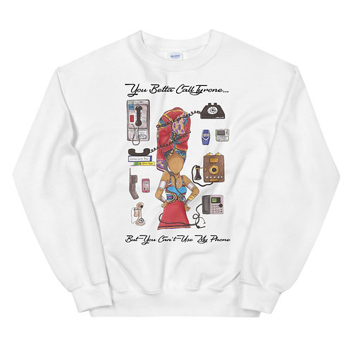 "Erykah Badu ""Call Tyrone"" Illustration Sweatshirt"