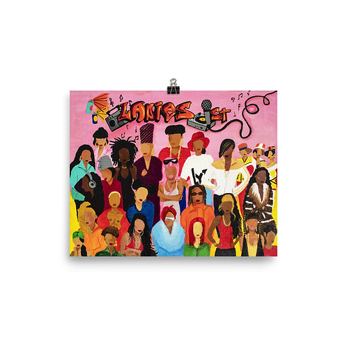 Ladies First Female Rapper Original Painting Poster Print
