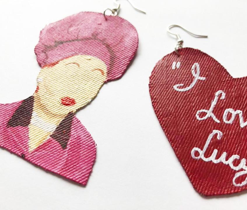 """""""I Love Lucy"""" Earrings"""
