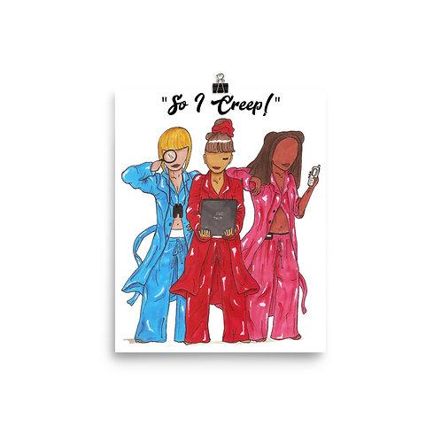 "TLC ""So I Creep"" Music Video Illustration Art Poster Print"