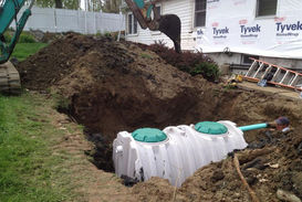 new septic installation