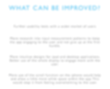 What can be improved_
