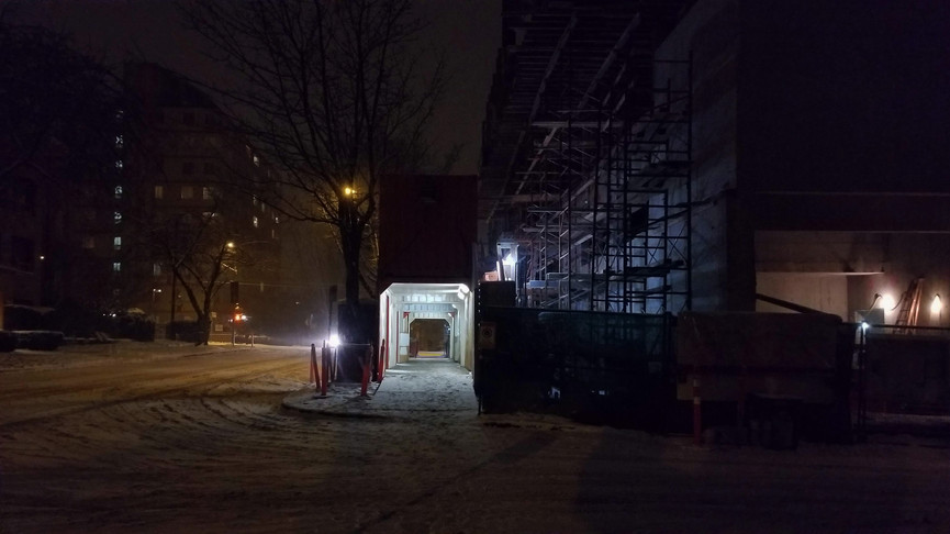 Construction in the Snow