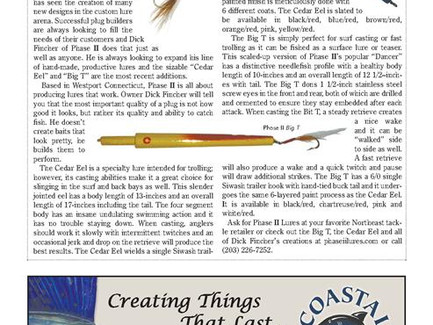 Phase II Lures BigT & CedarEel Featured in New Jersey Angler Magazine