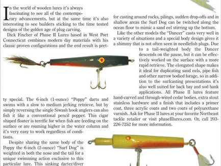 New Jersey Angler Magazine Features Phase II Lures