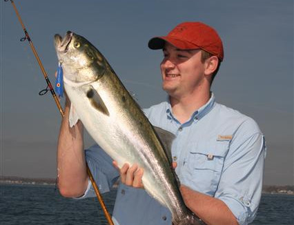Bryan Monson Shows Off 13 lb Bluefish